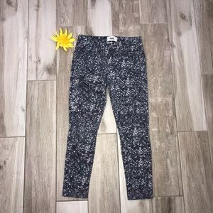 Paige verdugo Ankle sequin print skinny jeans